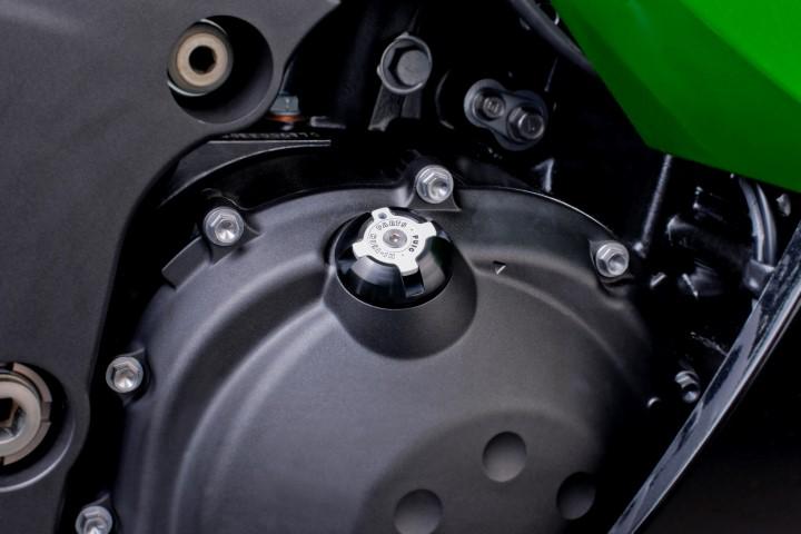6158-PUIG-Tapon-aceite-carter-HI-TECH-aluminio-KAWASAKI-ER-5-2002-2006 miniatura 4