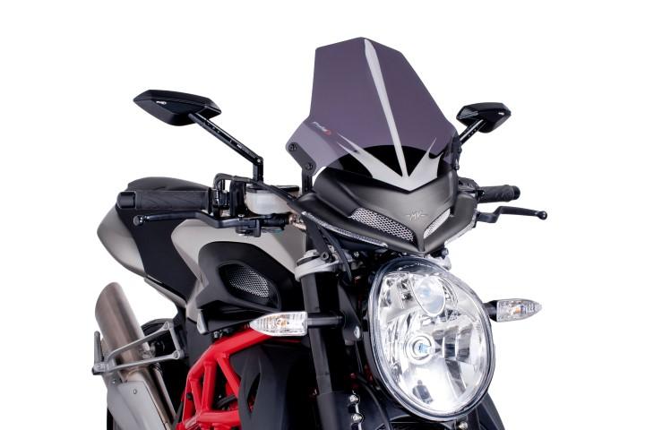 PUIG 6400F - Naked New Generation Sport Windscreen, Dark
