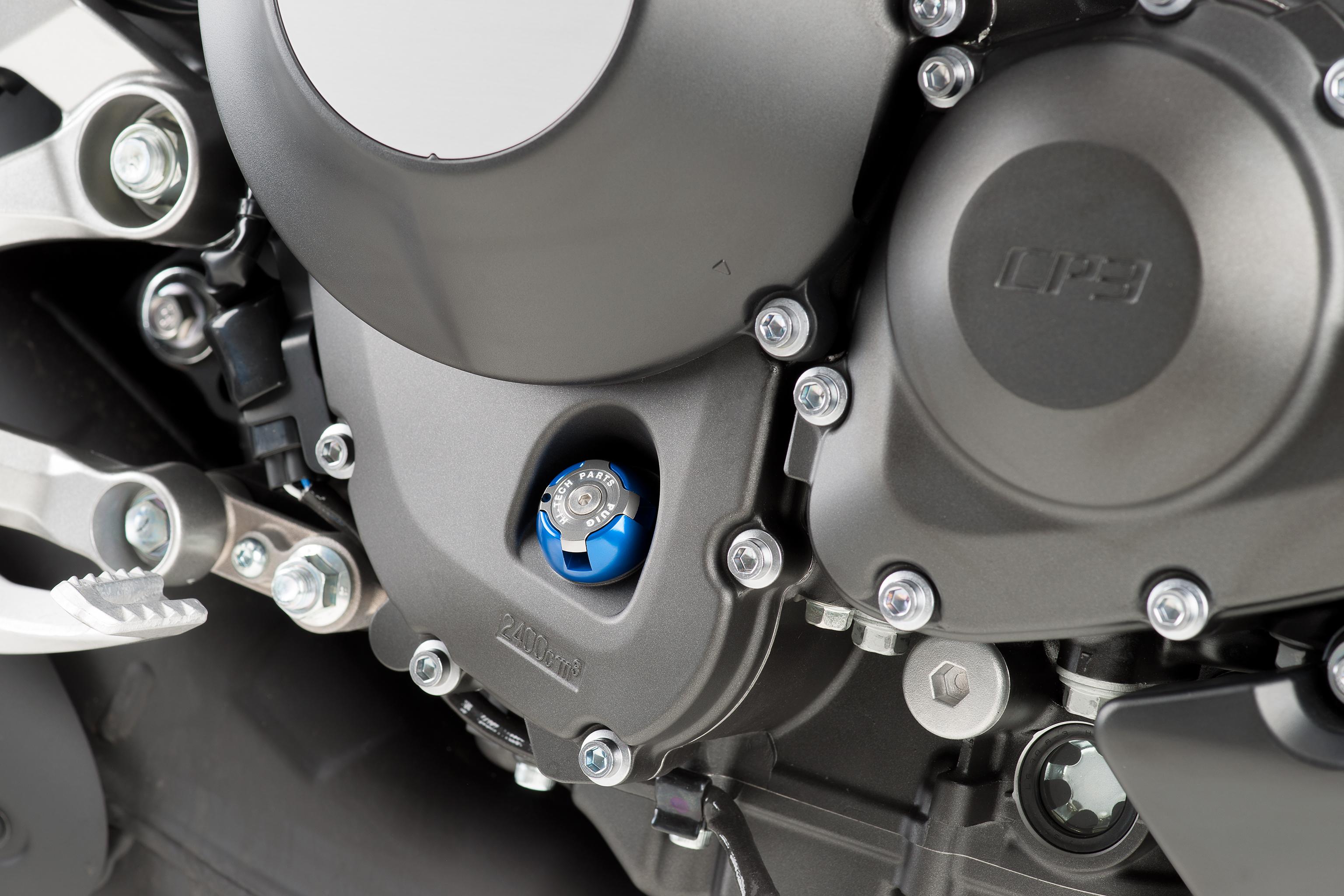 6781-PUIG-Tapon-aceite-carter-HI-TECH-aluminio-YAMAHA-MT09-2013-2017 miniature 2