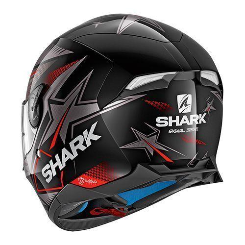 Shark SKWAL 2/draghal cascos de motocicleta talla M color negro//rojo